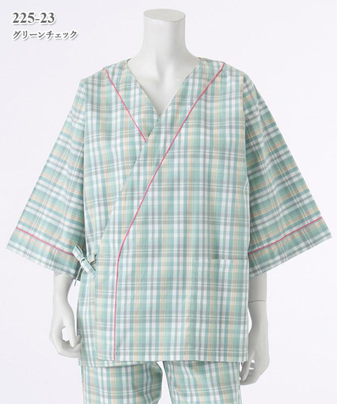 患者衣甚平型上衣[KAZEN製品] 225-23