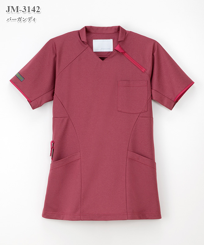 女子ニットシャツ半袖[ナガイレーベン製品] JM-3142