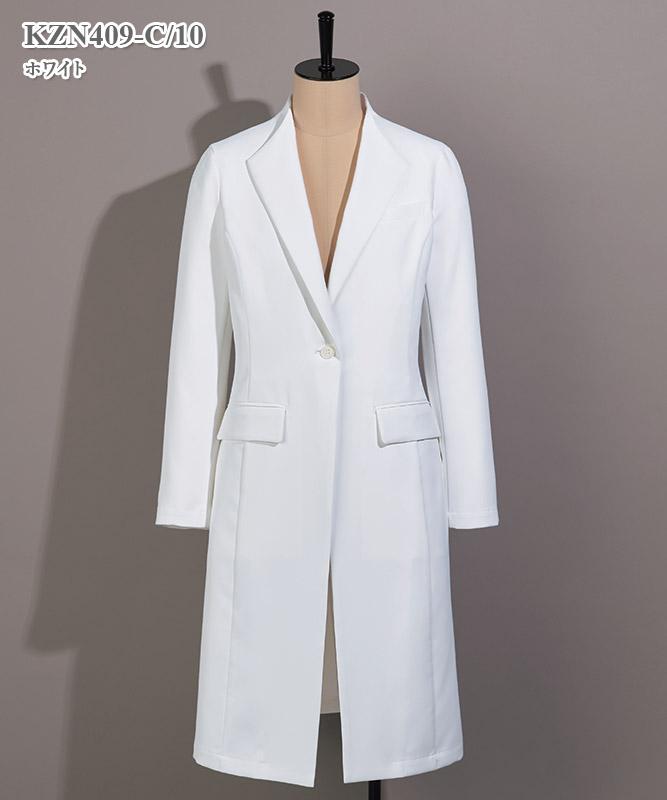 レディス診察衣長袖[KAZEN製品] KZN409