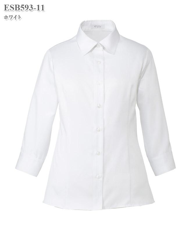 シャツブラウス七分袖[女性用][カーシーカシマ製品] ESB593