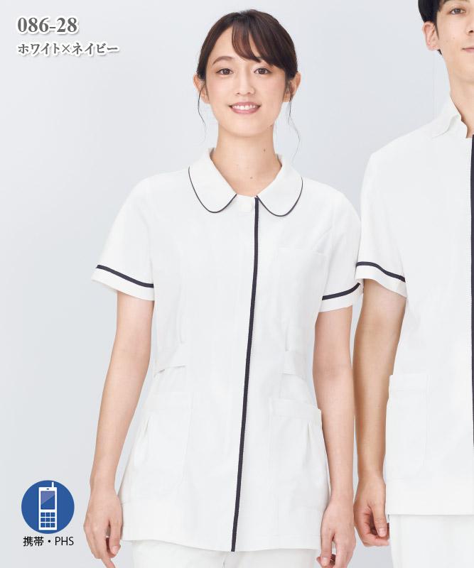 ソフトトリコットレディスジャケット半袖[KAZEN製品] 086