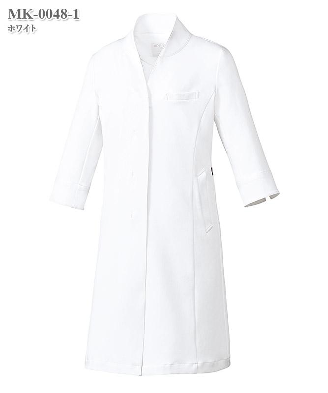 ミッシェルクラン女子ドクターコート七分袖[チトセ製品] MK-0048