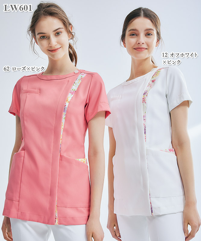 ローラ アシュレイ レディスナースジャケット半袖[住商モンブラン製品] LW601
