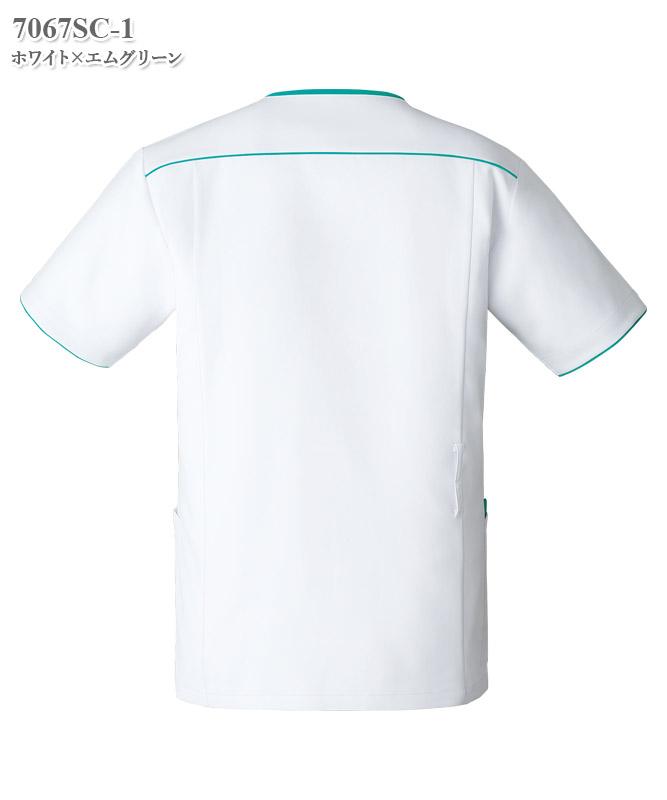 メンズジップスクラブ半袖[フォーク製品] 7067SC