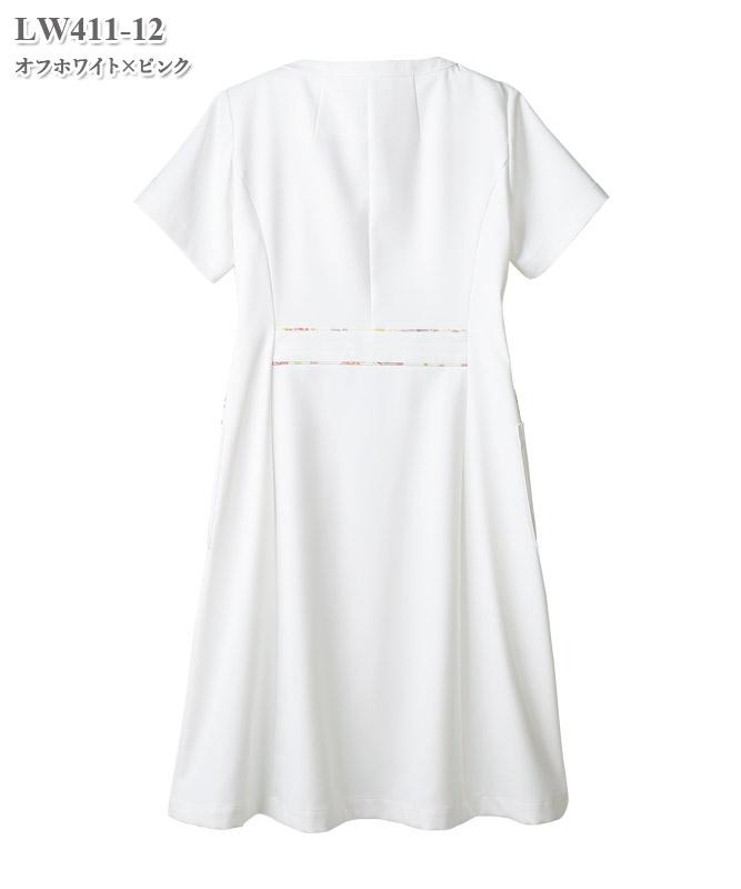 ローラ アシュレイ レディスナースワンピース半袖[住商モンブラン製品] LW411
