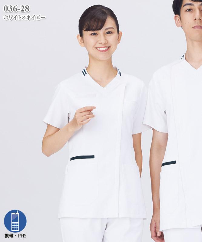 レディススクラブ半袖[KAZEN製品] 036