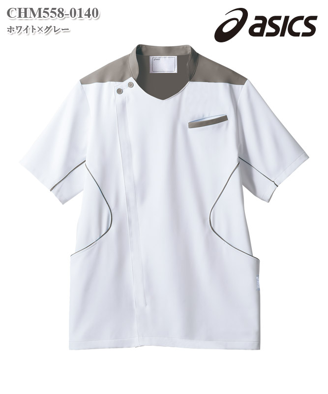 アシックスメンズジャケット半袖[住商モンブラン製品] CHM558