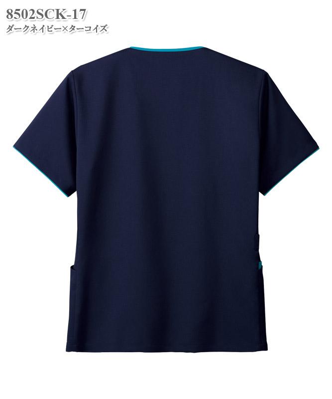 メンズジップスクラブ半袖[フォーク製品] 8502SCK