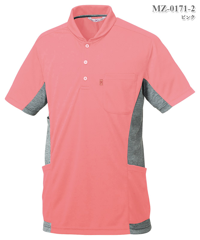 ミズノ男女兼用ニットシャツ半袖[チトセ製品] MZ-0171