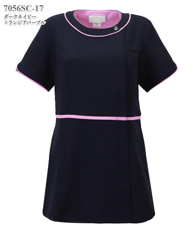 女子チュニック半袖[フォーク製品] 7056SC