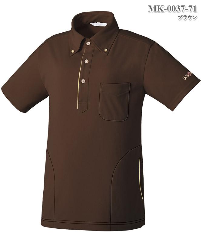 ミッシェルクラン男女兼用ニットシャツ半袖[チトセ製品] MK-0037