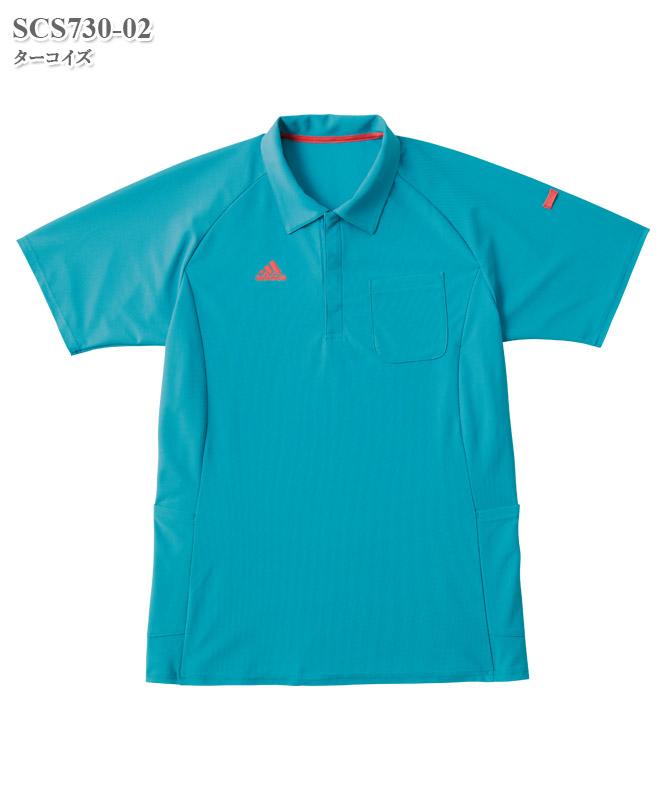 アディダス男女兼用ポロシャツ半袖[KAZEN製品] SCS730