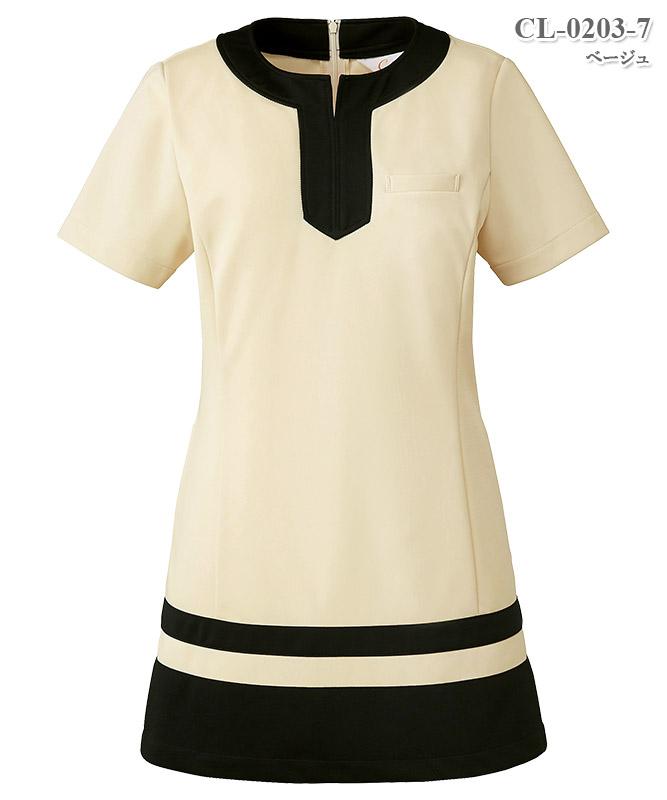 レディスチュニック半袖[チトセ製品] CL-0203