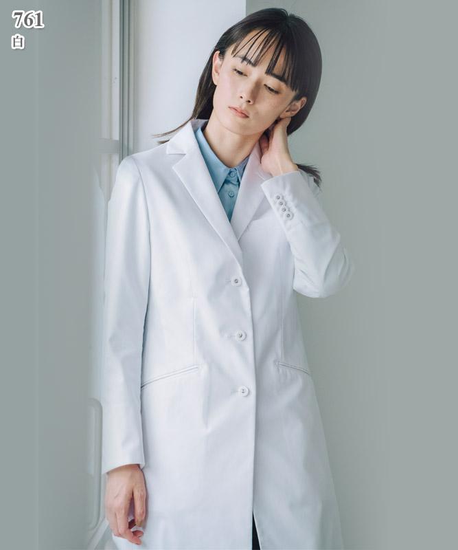 ヌードフィットドクターコートレディース白衣長袖[クラシコ製品] 761