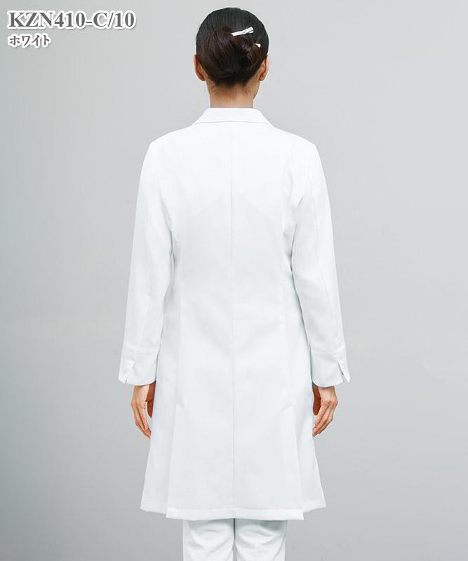 レディス白衣診察衣長袖[KAZEN製品] KZN410