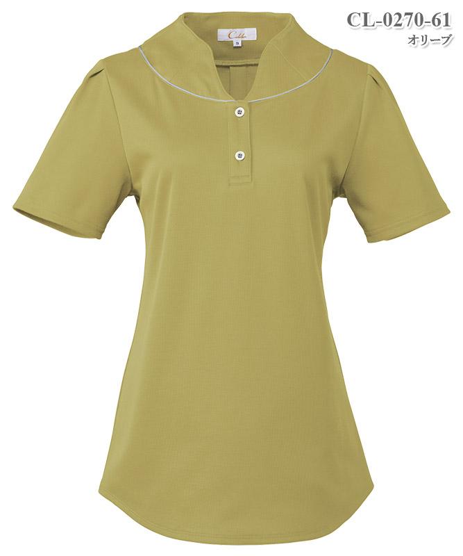 レディスニットシャツ半袖[チトセ製品] CL-0270
