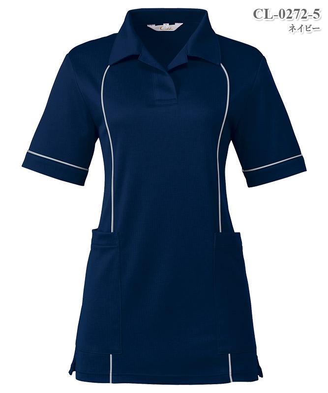 レディスニットシャツ半袖[チトセ製品] CL-0272