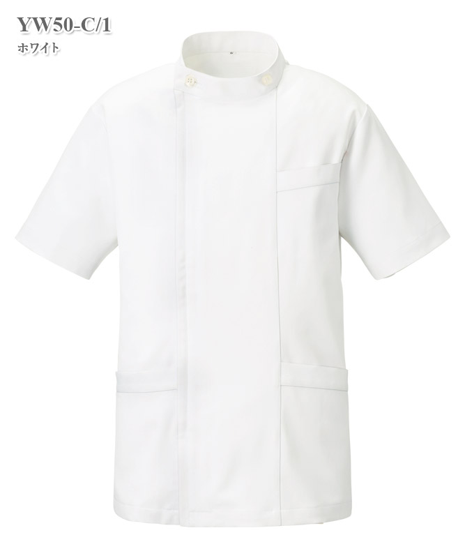 渡辺雪三郎メンズジャケット半袖[KAZEN製品] YW50