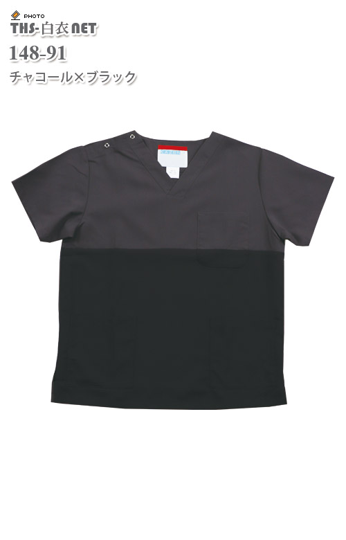男女兼用スクラブ半袖[KAZEN製品] 148