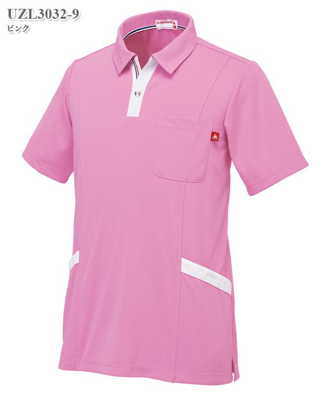 ルコックスポルティフ男女兼用ニットシャツ半袖[lecoq製品] UZL3032