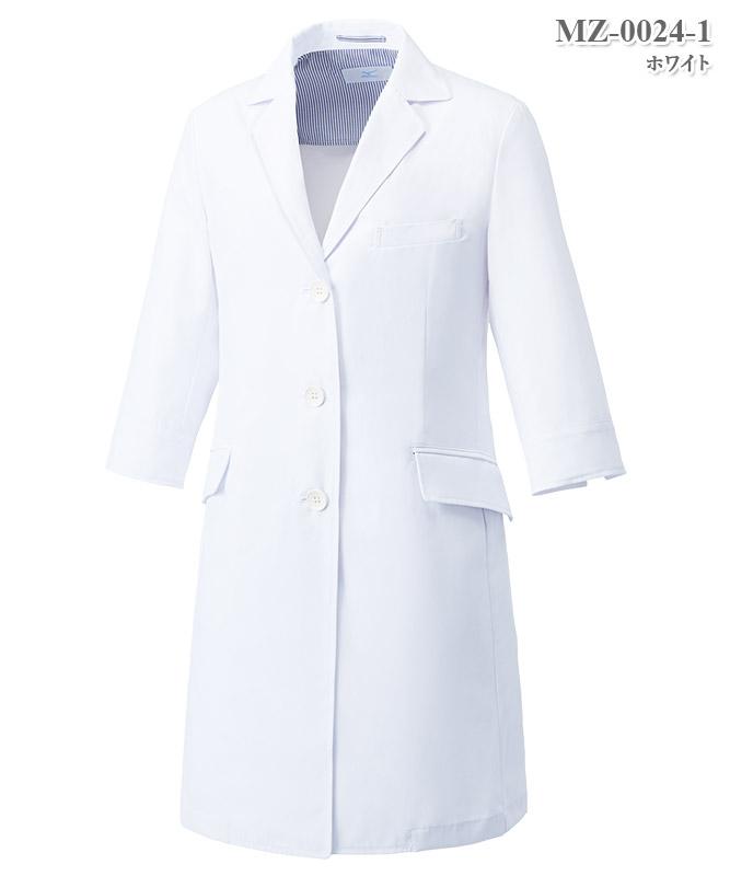 ミズノ女子ドクターコート七分袖[チトセ製品] MZ-0024