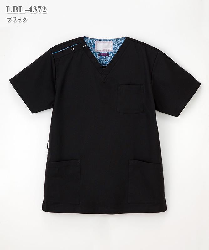 リバティフラワープリント男女兼用スクラブ半袖[ナガイレーベン製品] LBL-4372