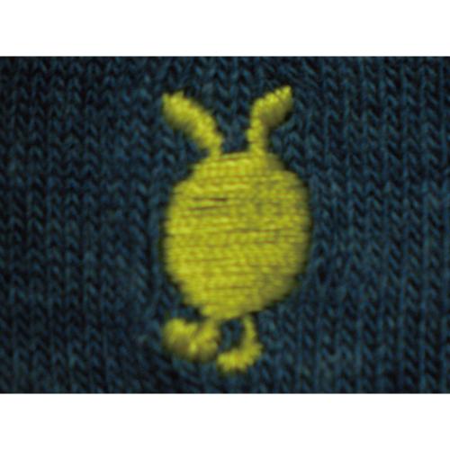 ワンポイント刺繍ソックス