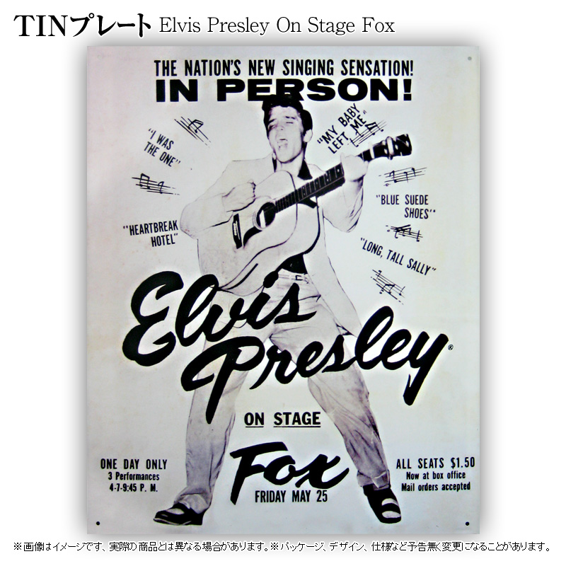 TINプレート[Elvis Presley On Stage Fox]