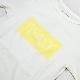 te-500crpt-202 SUMMERKNIT PRINT-T Box Logo White×LT Yellow