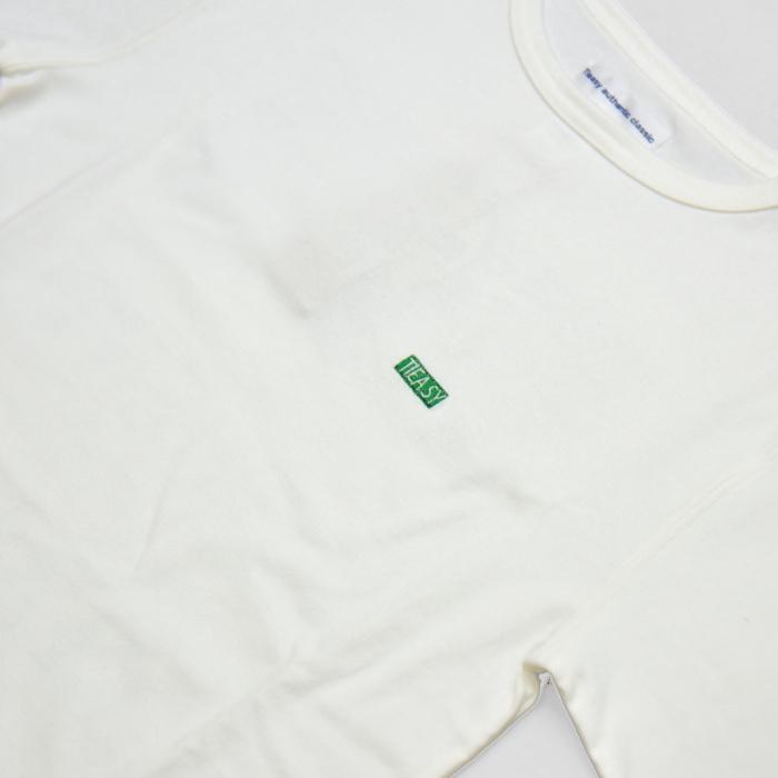 te-500cr-one SUMMERKNIT PRINT-T  White×Green