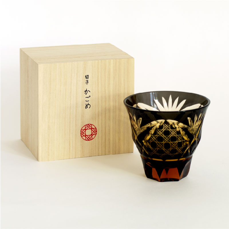 切子グラス 籠目(かごめ)BK