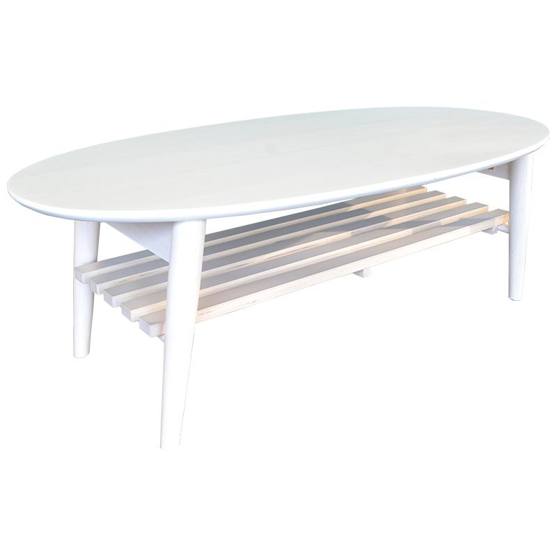 リビングテーブル MT-6922WS  【お客様組立商品】 ラバーウッド突板仕様 人気のホワイトウッド色