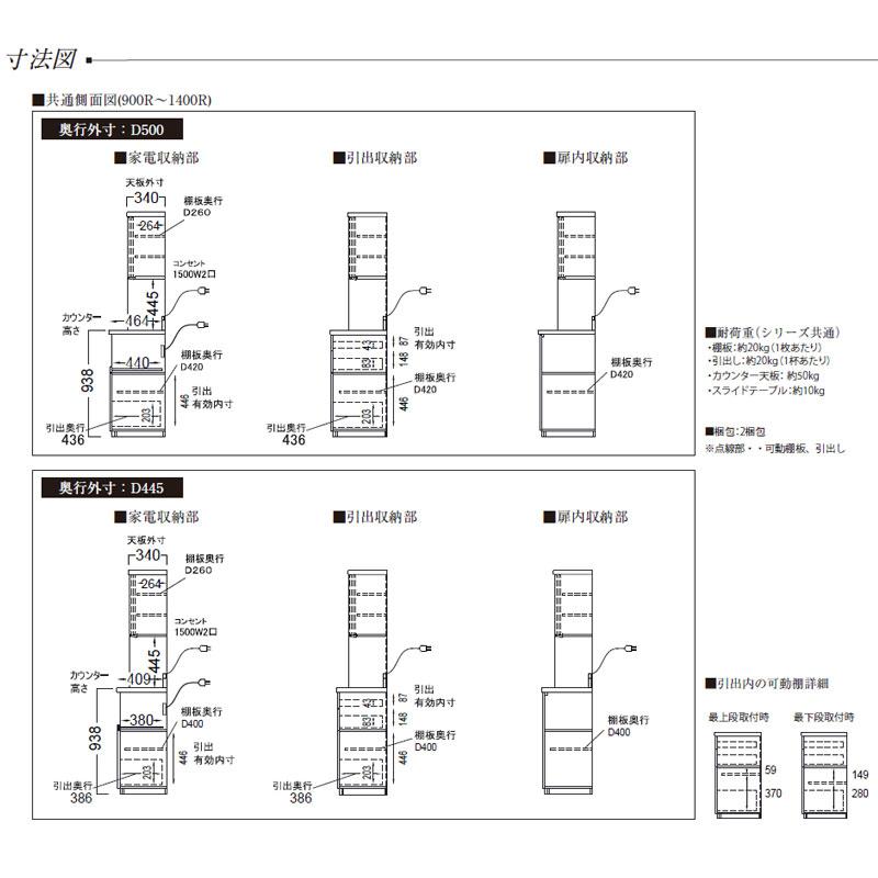 ダイニングボード FM-1400R FM-S1400R プレーンホワイト色 【大型商品配送便でのお届け】 ※奥行き2サイズから選べます