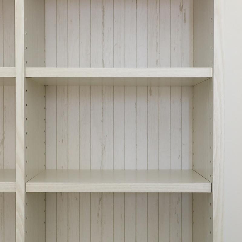 【お客様組立商品】引出し付き書棚 IFリバタナRVT-9085H WH 白井産業