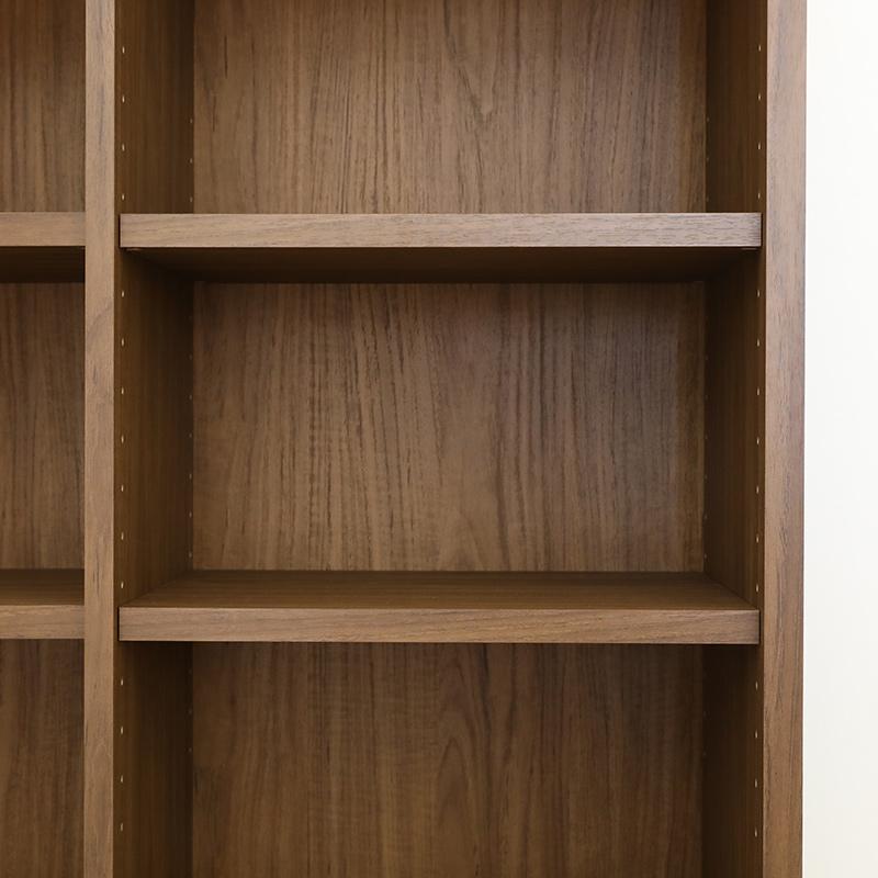 【お客様組立商品】引出し付き書棚 IFリバタナRVT-9085H BR 白井産業