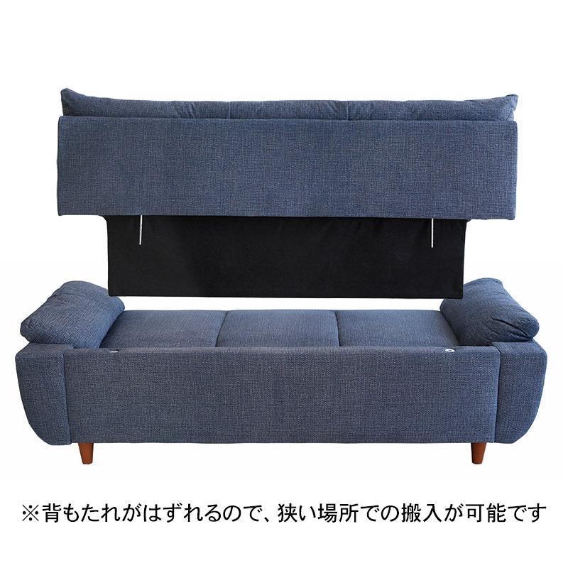3Pソファ 5942 HE522-09 BL 【大型商品配送便でのお届け】