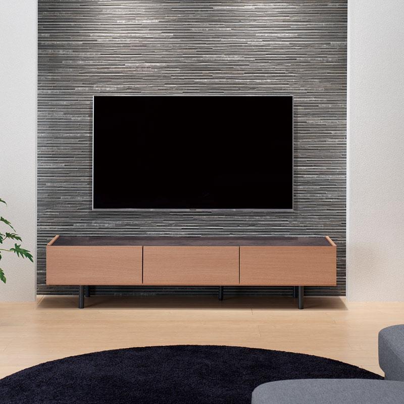 TVボード パモウナ WV-120 WV-150  WV-180  アイダホオーク色 【大型商品配送便でのお届け】 ※3サイズから選べます
