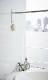 マグネットバスルーム物干し竿ホルダー2個組タワー WH