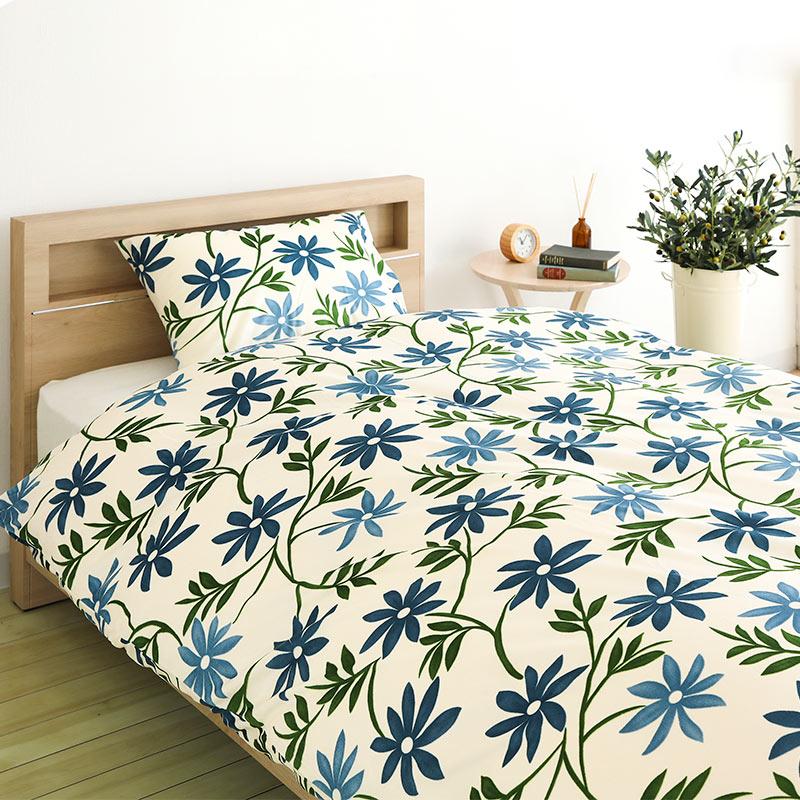 【値下げしました】ピロ—ケース  IF M−カンポ BL ※2サイズから選べます。 ※枕カバーのみ