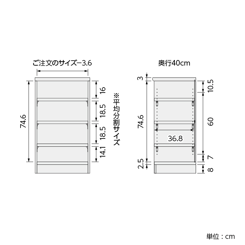 【お客様組立商品】オーダーラック奥行40�ミディアムタイプ (高さ88.1�・幅15〜90�) ARONCOタフ9015-90M ※サイズにより価格が異なります。
