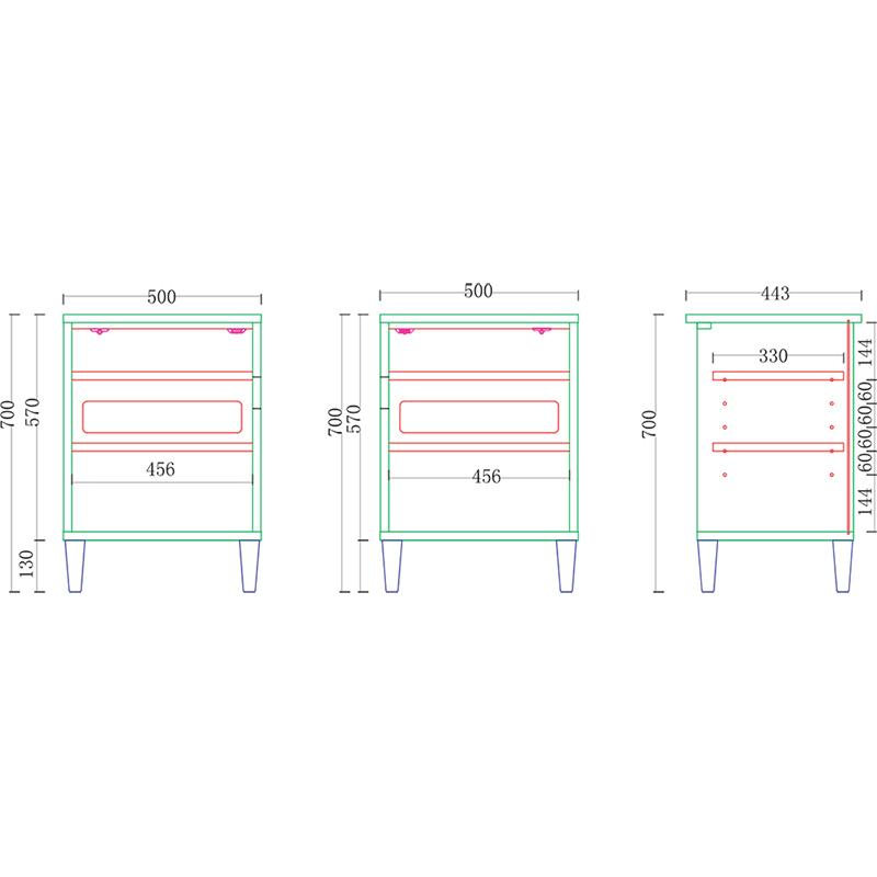 サイドキャビ オークライフ500R NA 【大型商品配送便でのお届け】