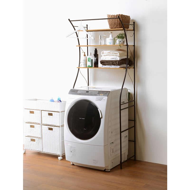 洗濯機ラック KCC-3028BR 2色からお選びできます ※ お客様組み立て商品