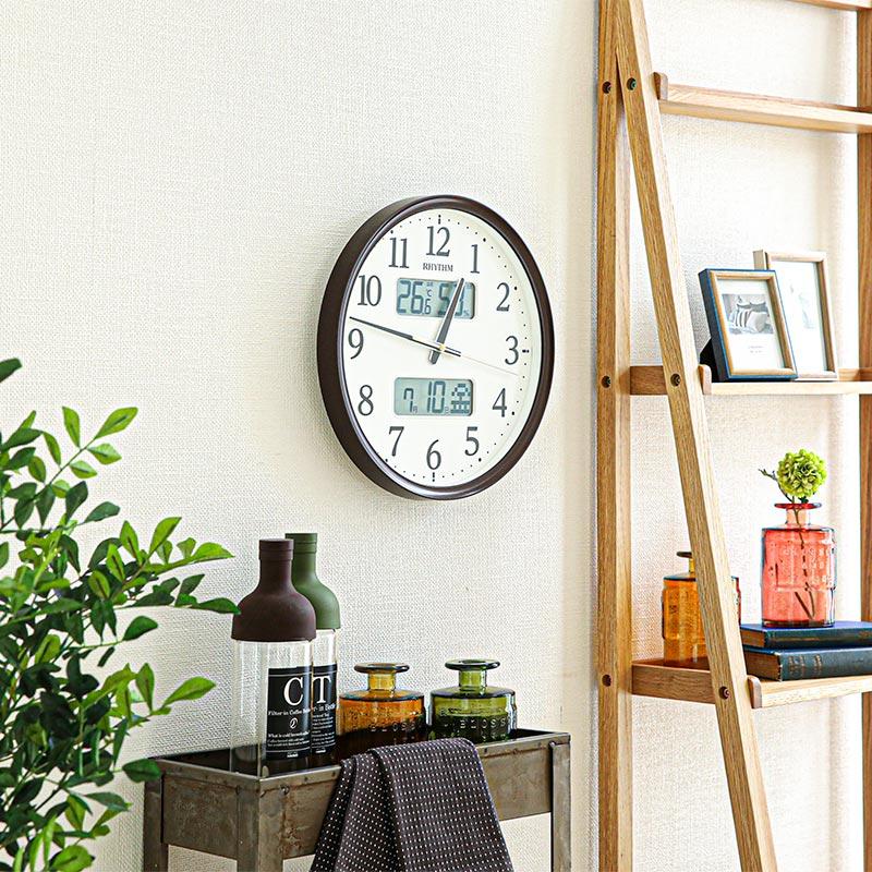 電波時計(掛時計) フィットウェーブリブA03 BR 8FYA03SR06