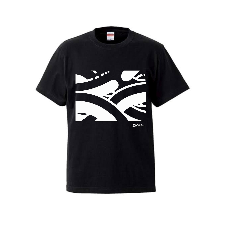 MOYA PATTERN Tシャツ 黒