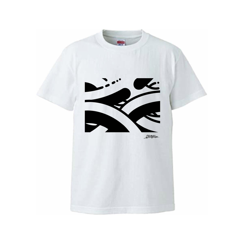 MOYA PATTERN Tシャツ 白
