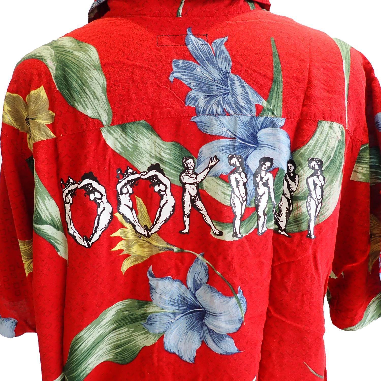 ink × OOKINI ALOHA shirts RED1 Lsize
