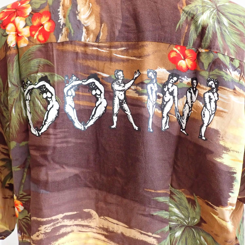 ink × OOKINI ALOHA shirts BROWN Lsize