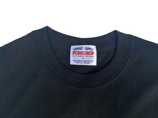 PORKCHOP GARAGE SUPPLY ポークチョップ ガレージサプライ BAR&SHIELD POCKET TEE バー&シールド ポケット Tシャツ 4色(BLACK/WHITE/LIGHT BLUE/MAROON) 半袖