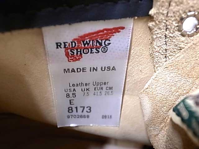 """RED WING レッドウィング 8173 Classic Work / 6"""" Moc-toe 8173 6インチ クラシックワーク モックトゥブーツ TAN タン スエード REDWING アイリッシュセッター クレープソール ブーツ"""