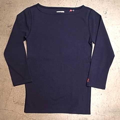 HOLLYWOOD RANCH MARKET ハリウッドランチマーケット ストレッチ フライス ボートネック ハーフスリーブ Tシャツ 4色(ホワイト/ブラック/ネイビー/Dグレー)